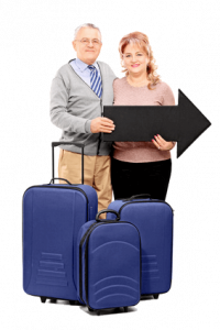 Couple with baggage clear